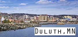 Duluth, MN at  for