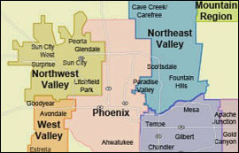Northeast of Phoenix at  for